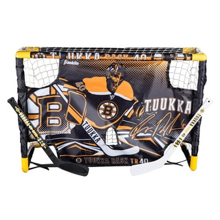 Franklin Sports Tuukka Rask Mini Hockey Goal Set with Target