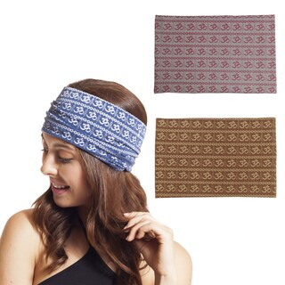 Handmade The Continuous Om Organic Cotton Wide Headband Wrap (Nepal)