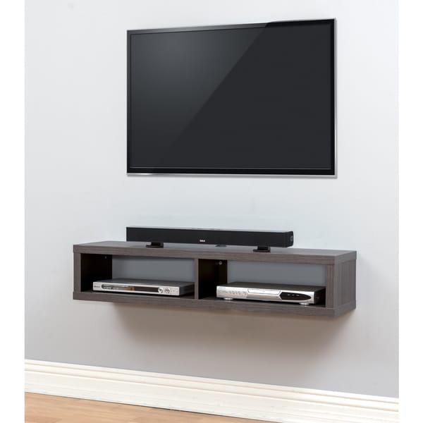 Shop thin 48 inch wall mount tv console free shipping - Tv wall mount with shelf ...