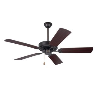 Emerson Builder 52-inch Oil Rubbed Bronze Traditional Ceiling Fan with Reversible Blades