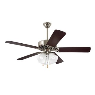 Emerson Pro Series II 50-inch Brushed Steel Traditional Ceiling Fan with Reversible Blades