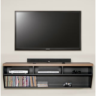 Arced 60-inch Wall Mount TV Console
