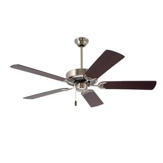 Emerson Builder 52-inch Brushed Steel Traditional Ceiling Fan with Reversible Blades