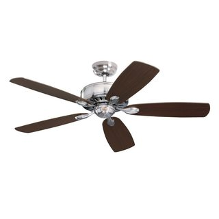 Emerson Prima 52-inch Brushed Steel Traditional Energy Star Ceiling Fan with Reversible Blades - Silver