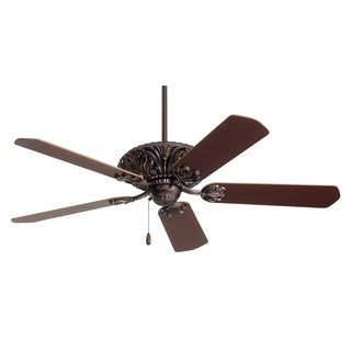 Emerson Zurich 52-inch Oil Rubbed Bronze Classic Art Deco Ceiling Fan with Reversible Blades