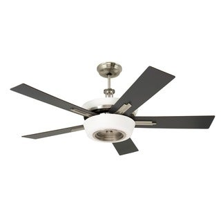 Emerson Laclede Eco 62-inch Brushed Steel Modern Transitional Ceiling Fan with Reversible Blades