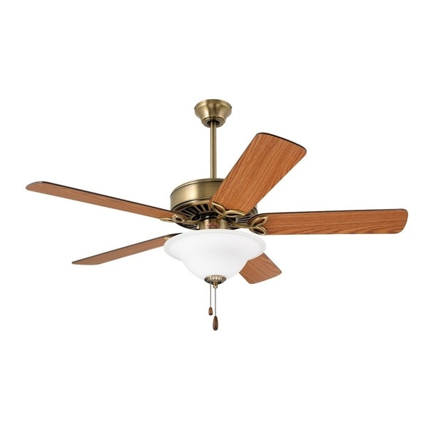 Emerson Pro Series 50-inch Antique Brass Traditional Ceiling Fan with Reversible Blades - Free ...