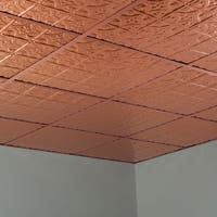 Fasade Traditional Style #1 Polished Copper 2-foot x 2-foot Lay-in Ceiling Tile