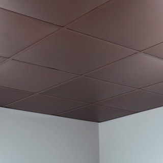 Fasade Flat Argent Bronze 2-foot x 2-foot Lay-in Ceiling Tile