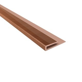Fasade 4-foot Polished Copper Large Profile J-Trim