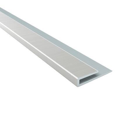 Fasade 4-foot Brushed Nickel Large Profile J-Trim