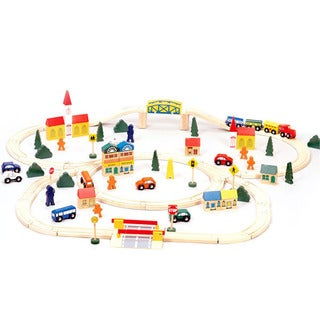 Conductor Carl 100-piece Wooden Train Set