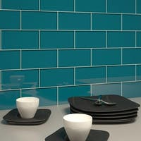 Dark Teal Subway Tiles (5.5 Square Feet) (44 Pieces per Unit)