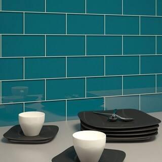 Dark Teal Subway Tiles 5 Square Feet 44 Pieces Per Unit