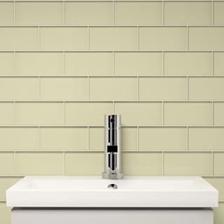 Cream 3 x 6-inch 5.5 sq. ft. Subway Tile (Case of 44)