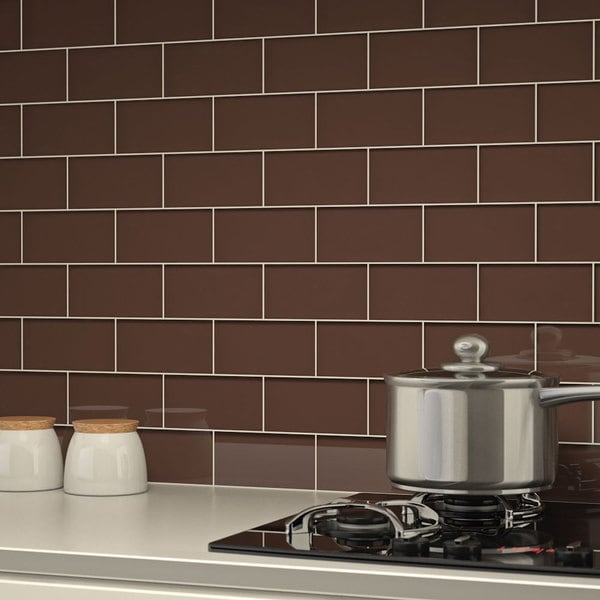 Classic Brown Subway Tiles (5.5 Square Feet) (44 Pieces ...