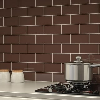 Classic Brown Subway 5.5 Square Foot Tiles (44 Pieces per Unit)