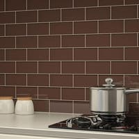 Classic Brown Subway Tiles (5.5 Square Feet) (44 Pieces per Unit)