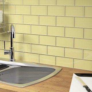 Chartreuse Subway 5.5 Square Foot Tiles (44 Pieces per Unit)