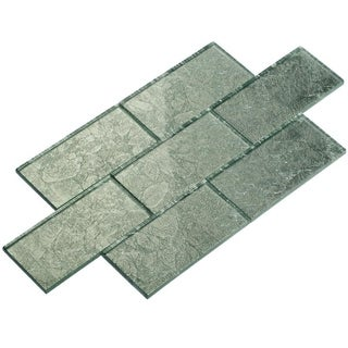 Silver Foil Subway 5.5 Square Foot Tiles (44 Pieces per Unit)