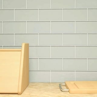Light Gray Subway 5.5 Square Foot Tiles (44 Pieces per Unit)