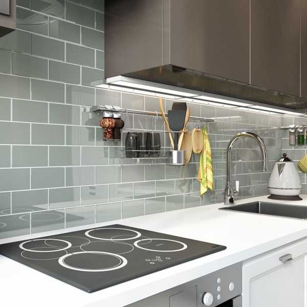Shop True Gray Glass Subway Tiles (5.5 Square Feet) (44