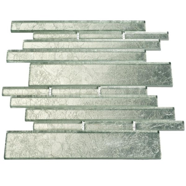 Silver Foil Club Piano Tiles (7.65 Square Feet) (Case of 11 Sheets)