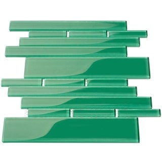 Emerald Green Club 7.81 Square Foot Piano Tiles (Case of 11 Sheets)