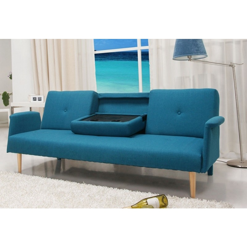 Contemporary Home Design Fabric Mid-century Sofa Bed With
