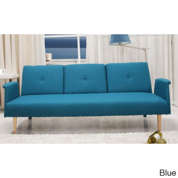 Contemporary Home Design Fabric Mid Century Sofa Bed With Cup Holder