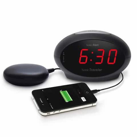 Sonic Traveler Alarm Clock with Bed Vibration