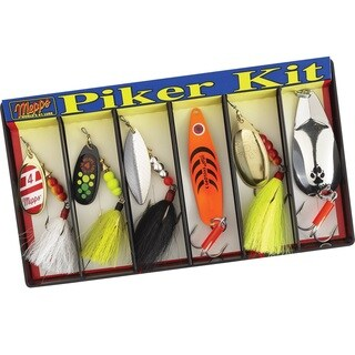 Mepps Piker Kit Plain and Dressed Lure Assortment