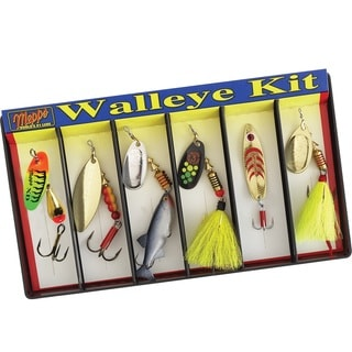 Mepps Walleye Kit Plain and Dressed Lure Assortment