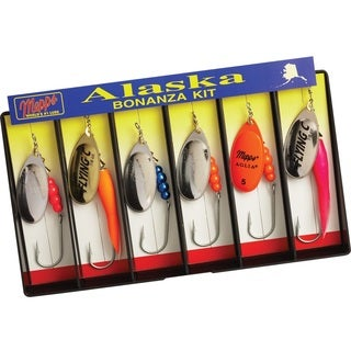 Mepps Alaska Bonanza Kit Plain Single Hook Lure Assortment