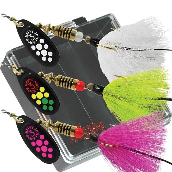 Mepps Bass Pocket Pac #3 Black Fury Dressed