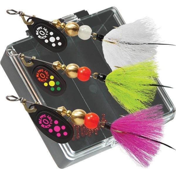 Mepps Panfish Pocket Pac #0 Black Fury Dressed