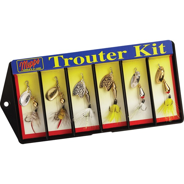 Mepps Trouter Kit Dressed #0 Lure Assortment