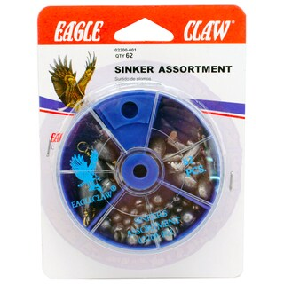 Eagle Claw Sinker Assortment (Per 62)