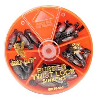 Eagle Claw Sinker Assortment Rubber Twist Lock (Per 25)