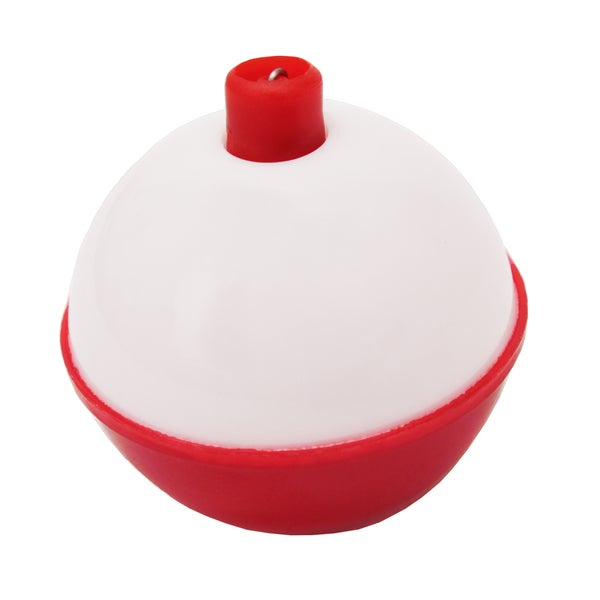 Eagle Claw Snap-On Round Floats Red/White Size 1-inch Bulk