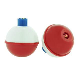 Eagle Claw Snap-On Round Floats Red/White Size 1.25 inch Bulk