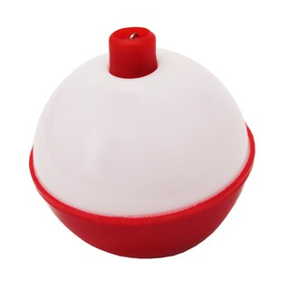 Eagle Claw Snap-On Round Floats Red/White Size 1.5 inch (Per 2)
