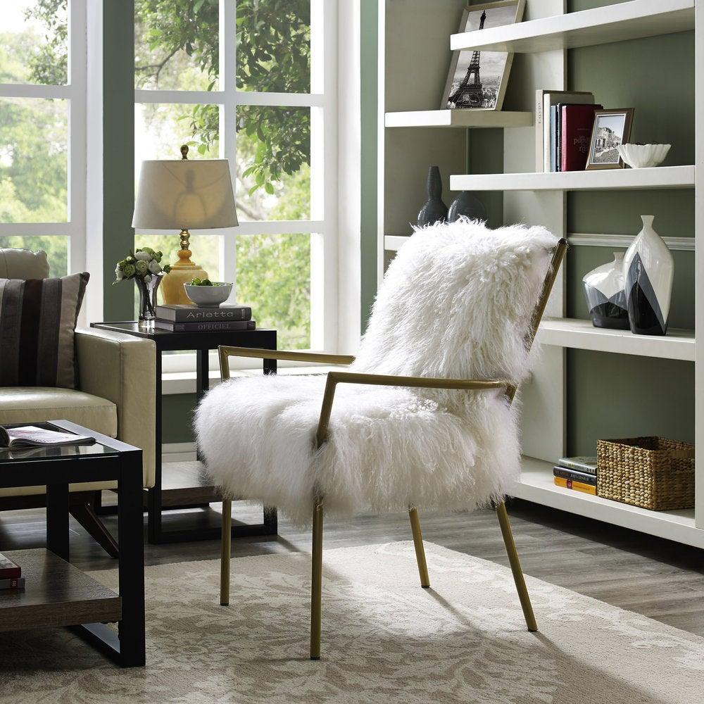 TOV Furniture Lena Sheepskin Chair