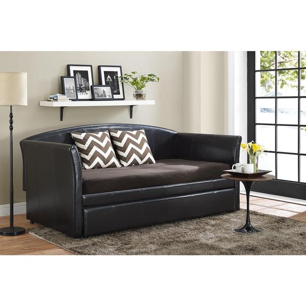 Shop Dhp Halle Upholstered Daybed And Trundle Free