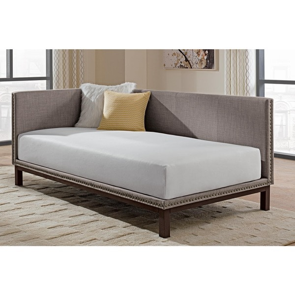 Avenue Greene Midcentury Grey Upholstered Modern Daybed Free