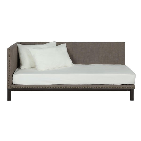 Avenue Greene Mid-century Grey Upholstered Modern Daybed - Free Shipping  Today - Overstock.com - 17603238 - Avenue Greene Mid-century Grey Upholstered Modern Daybed - Free