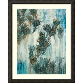 Liz Jardine 'Proud as a Peacock' Framed Art Print 40 x 50-inch