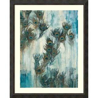 Framed Art Print 'Proud as a Peacock' by Liz Jardine 41 x 51-inch