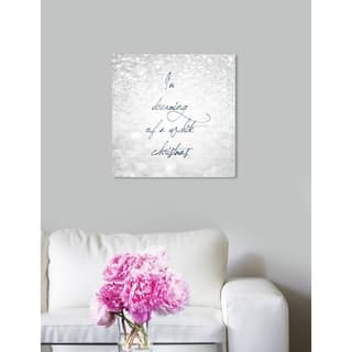 Oliver Gal 'White Christmas' Holiday and Seasonal Wall Art Canvas Print - Gray, Blue