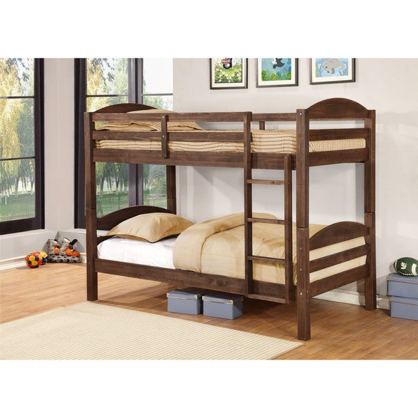 alissa twin/twin bunk bed in rustic finishes - free shipping today